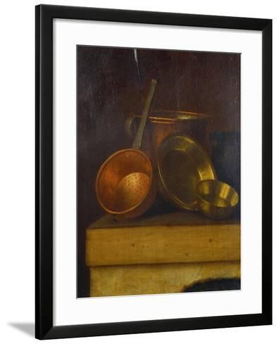 Copper and Brass Pots and Pans on an Oven Top-Martin Dichtl-Framed Art Print