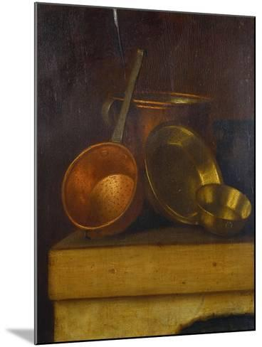 Copper and Brass Pots and Pans on an Oven Top-Martin Dichtl-Mounted Giclee Print