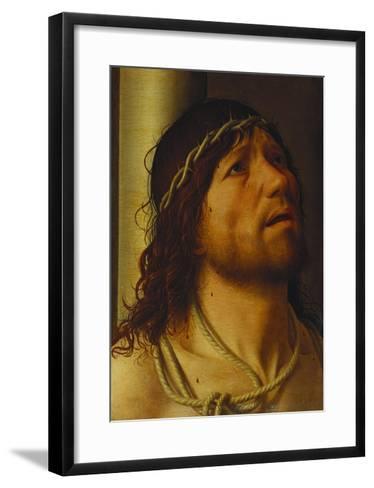 Christ at the Column-Antonello da Messina-Framed Art Print