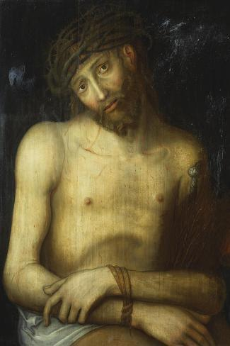 Christ Crowned with Thorns-Lucas Cranach, the elder (Attr to)-Stretched Canvas Print