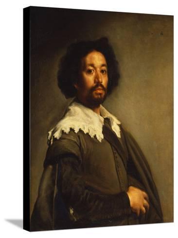 Portrait of Juan De Pareja-Diego Velazquez-Stretched Canvas Print