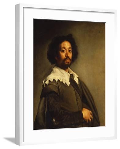 Portrait of Juan De Pareja-Diego Velazquez-Framed Art Print