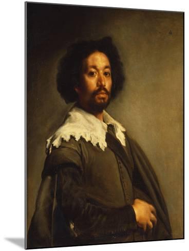 Portrait of Juan De Pareja-Diego Velazquez-Mounted Giclee Print