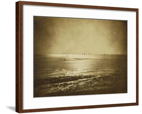 Seascape, Normandy, 1856-Gustave Le Gray-Framed Art Print