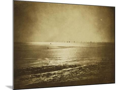 Seascape, Normandy, 1856-Gustave Le Gray-Mounted Giclee Print