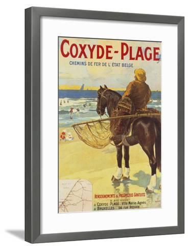 Coxyde-Beach; Coxyde-Plage-Matteoda Angelo Rossotti-Framed Art Print