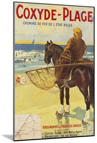 Coxyde-Beach; Coxyde-Plage-Matteoda Angelo Rossotti-Mounted Giclee Print