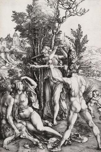 Hercules, or the Effects of Jealousy-Albrecht D?rer-Stretched Canvas Print
