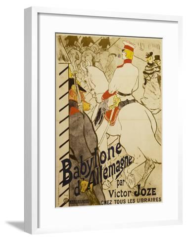 Babylon D'Allemagne-Henri de Toulouse-Lautrec-Framed Art Print