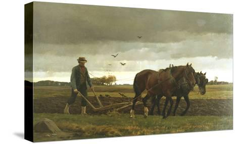 The Ploughman-Frants Henningsen-Stretched Canvas Print