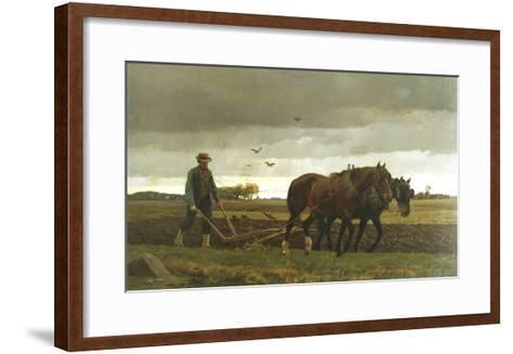 The Ploughman-Frants Henningsen-Framed Art Print