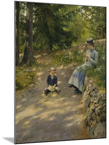 The Artist's Wife Dagny and their Son Sigurd-Paul Fischer-Mounted Giclee Print