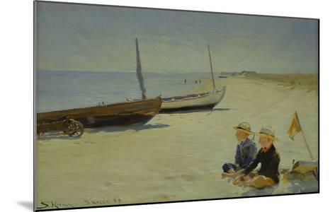 Boys on the Beach at Skagen-Peder Severin Kr?yer-Mounted Giclee Print