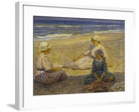 On the Beach-Johannes Martin Fastings Wilhjelm-Framed Art Print