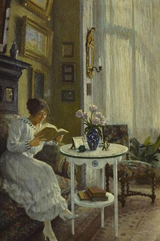The Afternoon Read-Paul Fischer-Stretched Canvas Print