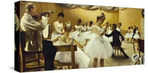 The Royal Theatre's Ballet School-Paul Fischer-Stretched Canvas Print