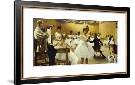 The Royal Theatre's Ballet School-Paul Fischer-Framed Art Print