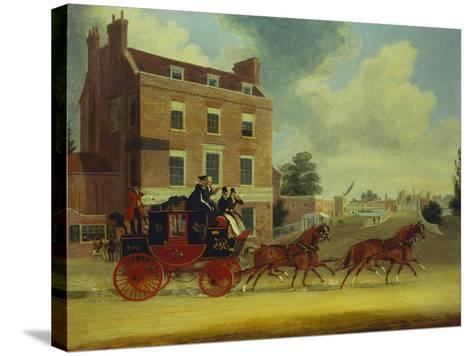 The Quicksilver Royal Mail-James Pollard-Stretched Canvas Print