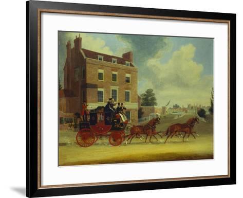 The Quicksilver Royal Mail-James Pollard-Framed Art Print