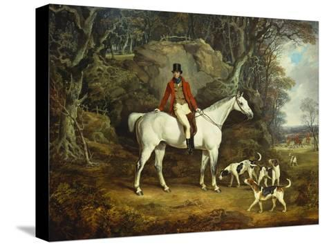 Viscount Rowland Hill on His Grey Hunter with the Shropshire Hunt-Richard Jones-Stretched Canvas Print