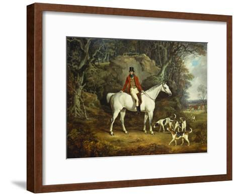 Viscount Rowland Hill on His Grey Hunter with the Shropshire Hunt-Richard Jones-Framed Art Print