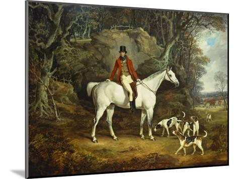 Viscount Rowland Hill on His Grey Hunter with the Shropshire Hunt-Richard Jones-Mounted Giclee Print