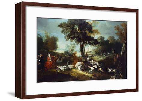 The Hunt with Wolf; La Chasse Au Loop-Jean Baptiste Oudry (Attr to)-Framed Art Print
