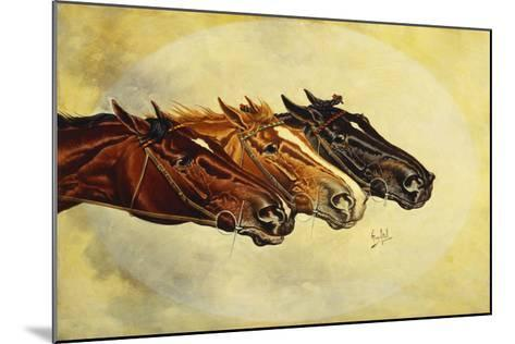 The Celebrated Race Horses 'Henry of Navarre', 'Monitor' and 'Dominoe'-Henry Stull-Mounted Giclee Print