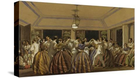 A Ball in the Philippines-C.W. Andrews-Stretched Canvas Print