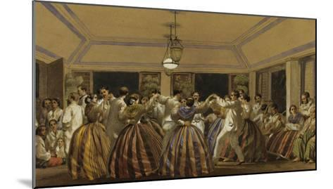 A Ball in the Philippines-C.W. Andrews-Mounted Giclee Print