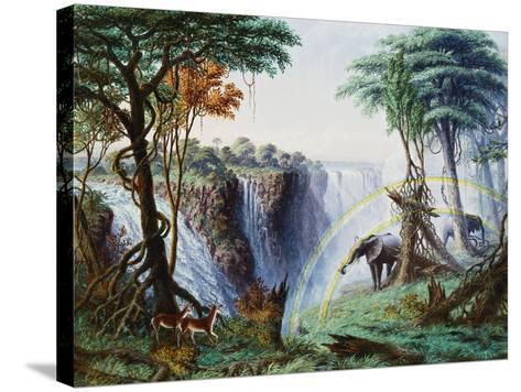 The Mosi-Oa-Tunya (The Smoke That Thunders) or Victoria Falls, Zambesi River-Thomas Baines-Stretched Canvas Print