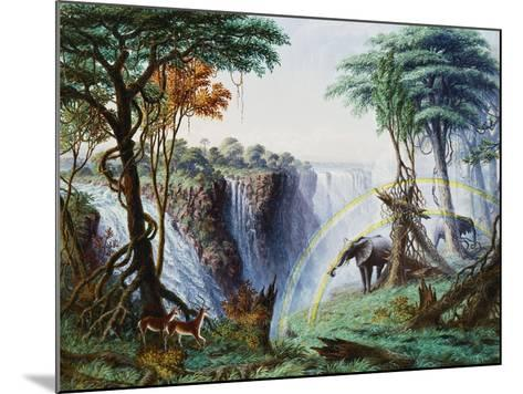 The Mosi-Oa-Tunya (The Smoke That Thunders) or Victoria Falls, Zambesi River-Thomas Baines-Mounted Giclee Print