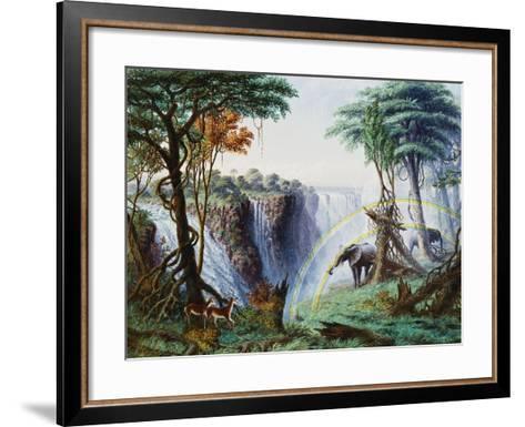 The Mosi-Oa-Tunya (The Smoke That Thunders) or Victoria Falls, Zambesi River-Thomas Baines-Framed Art Print