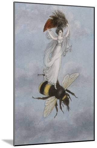 A Fairy Carrying a Feather Standing on a Bee-Amelia Jane Murray-Mounted Giclee Print