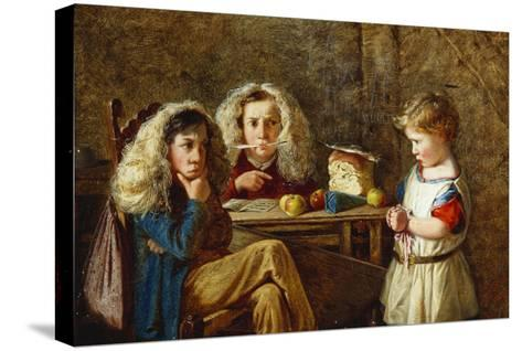 The Trial-Charles Hunt-Stretched Canvas Print