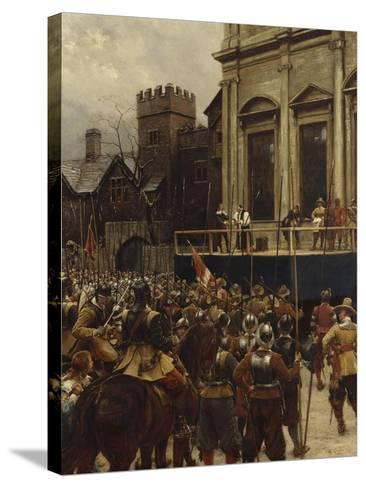 Whitehall: January 30th, 1649-Ernest Crofts-Stretched Canvas Print