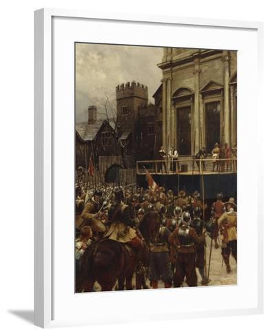 Whitehall: January 30th, 1649-Ernest Crofts-Framed Art Print