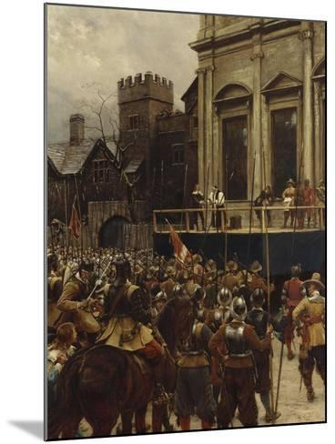 Whitehall: January 30th, 1649-Ernest Crofts-Mounted Giclee Print