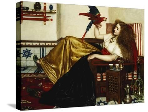 The Lady of the Tootni-Nameh; or the Legend of the Parrot-Valentine Cameron Prinsep-Stretched Canvas Print