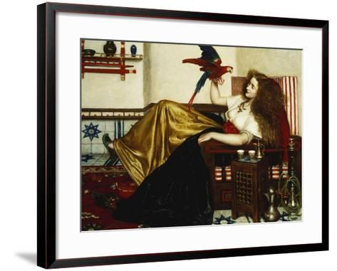 The Lady of the Tootni-Nameh; or the Legend of the Parrot-Valentine Cameron Prinsep-Framed Art Print