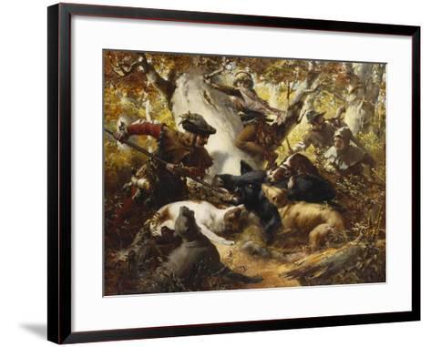 The Wild Boar Hunt-Ferdinand Wagner-Framed Art Print