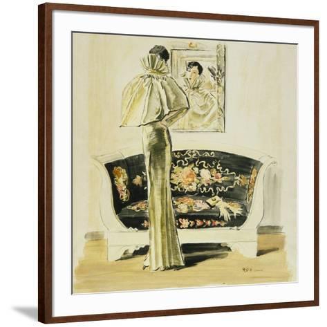 Vogue - September 1934-Ren? Bou?t-Willaumez-Framed Art Print