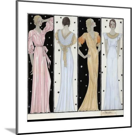 Vogue - October 1932-Georges Lepape-Mounted Premium Giclee Print