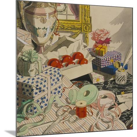 Vogue - December 1926-Leslie Saalburg-Mounted Premium Giclee Print