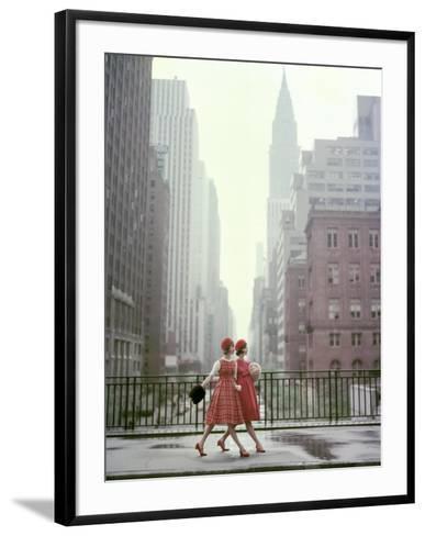 Vogue - August 1958 - Taking A Stroll-Sante Forlano-Framed Art Print