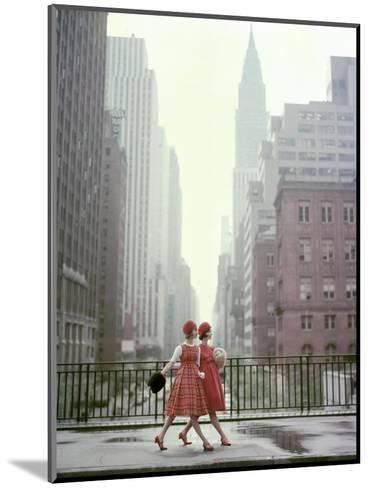 Vogue - August 1958 - Taking A Stroll-Sante Forlano-Mounted Premium Photographic Print
