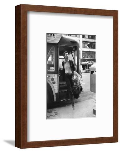 Vogue - June 1972 - Getting Off the Bus-Berry Berenson-Framed Art Print