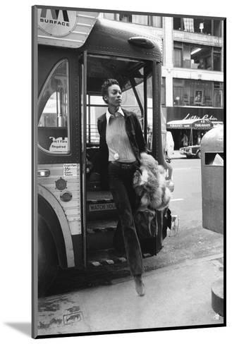 Vogue - June 1972 - Getting Off the Bus-Berry Berenson-Mounted Premium Photographic Print