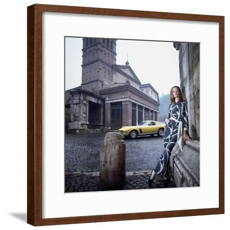 Vogue - April 1969 - Veruschka in Rome-Franco Rubartelli-Framed Art Print