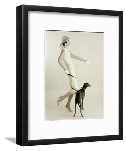 Vogue - January 1955-Richard Rutledge-Framed Art Print